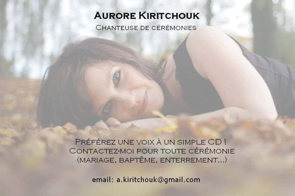 Aurore Kiritchouk Chanteuse