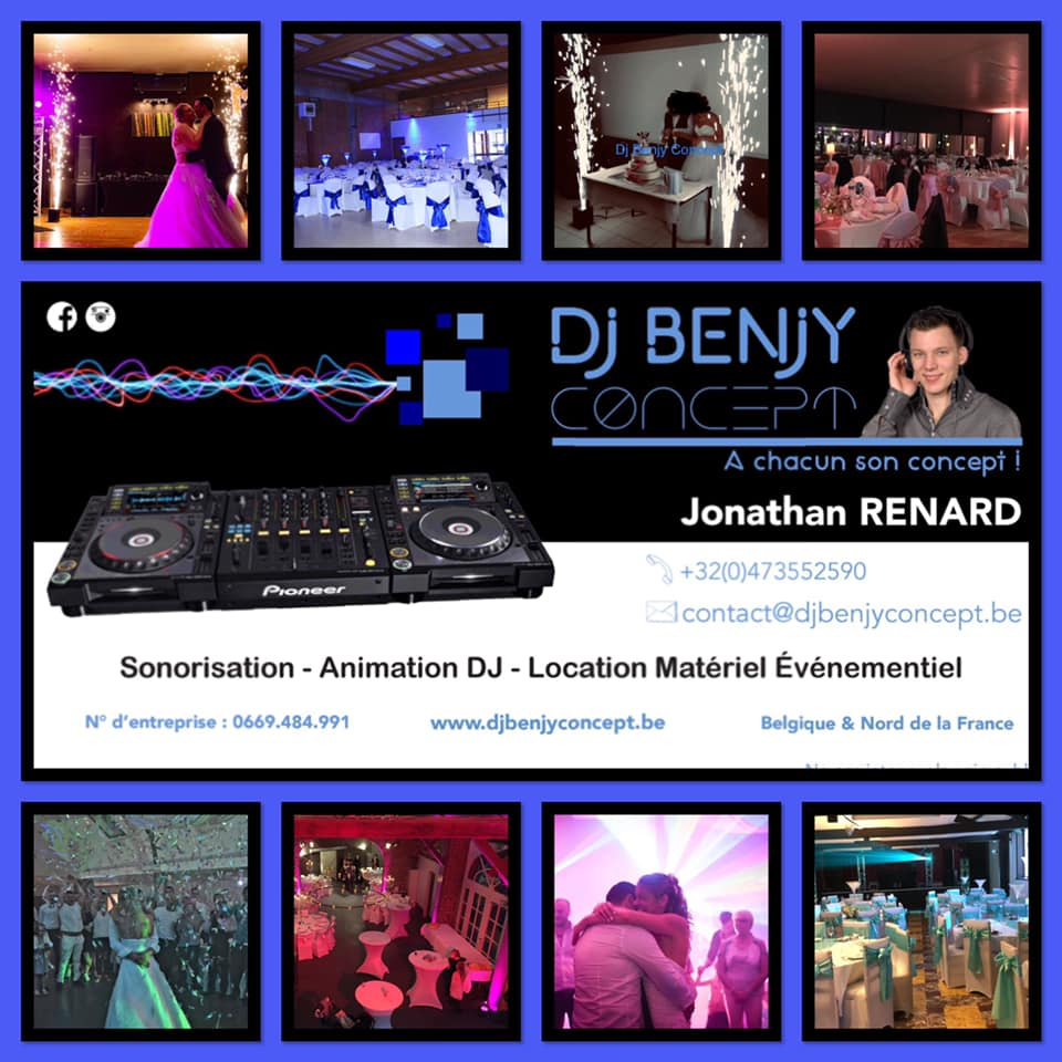 DJ Benjy Concept Jonathan Renard partenaire du photographe Studio 7700 BE