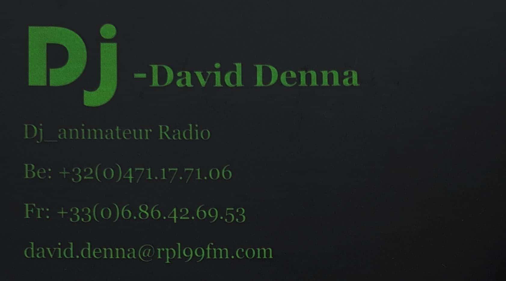 Partenaire du STUDIO 7700.BE le DJ David Denna