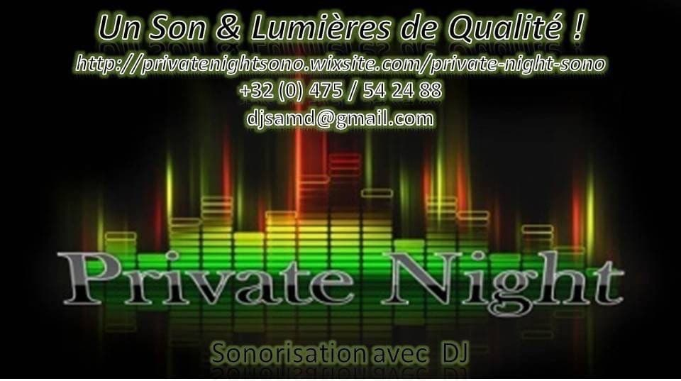 Partenaire du STUDIO 7700.BE by Fhano: Private night
