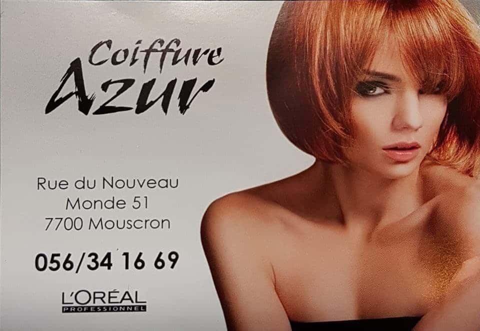 Le Studio Fhano.eu vous conseille le salon Coiffure Azur à Mouscron.
