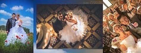 Quelques photos issues du reportage de mariage réalisé par le studio 7700.be pour l'union de Hélène et Mathieu