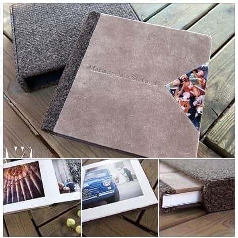 livre album de mariage en finition suède avec couverture tressée ... Studio Fhano.eu vous présente des exemples d'album réalisés par Graphistudio
