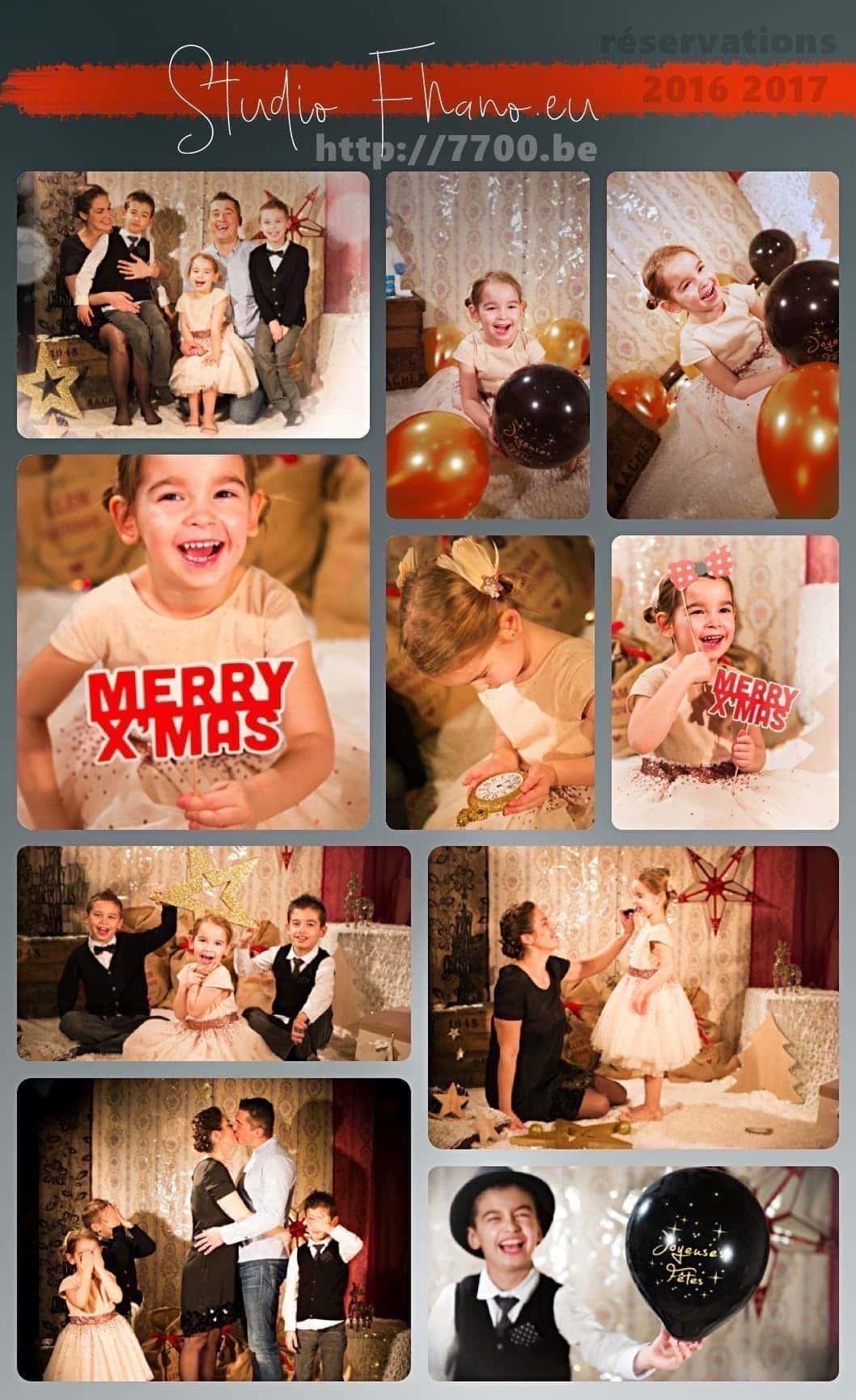 shooting décor de Noël et remerciement avec le studio 7700.be