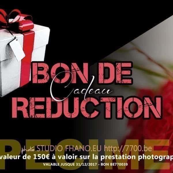 Bon cadeau de réduction d'une valeur de 150€ au studio 7700BE (Fhano.eu) - https://www.7700.be