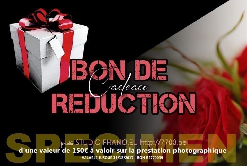 Bon cadeau de réduction d'une valeur de 150€ au studio 7700BE (Fhano.eu) - https://www.7700.be