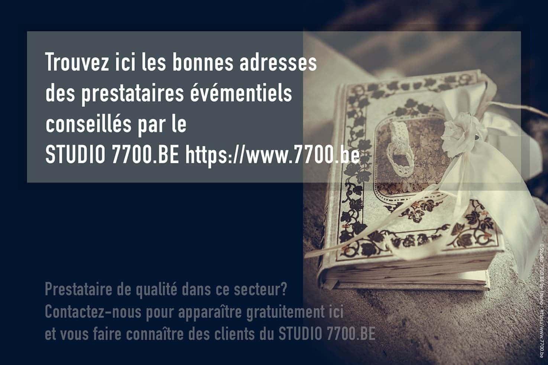 Trouvez les bonnes adresses des prestaires événementiels grâce à l'annuaire du Studio 7700.BE