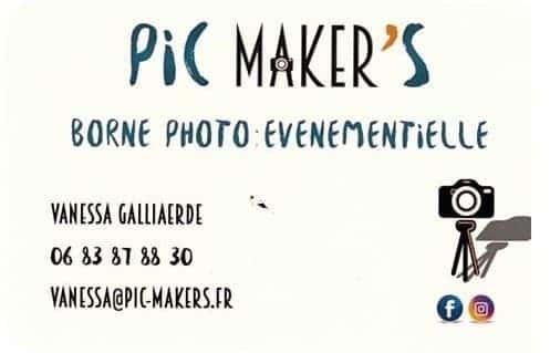 Un photobox avec une animatrice super sympathique et un informaticien qui gère le tout? Pic Maker's! Borne photo évènementielle.