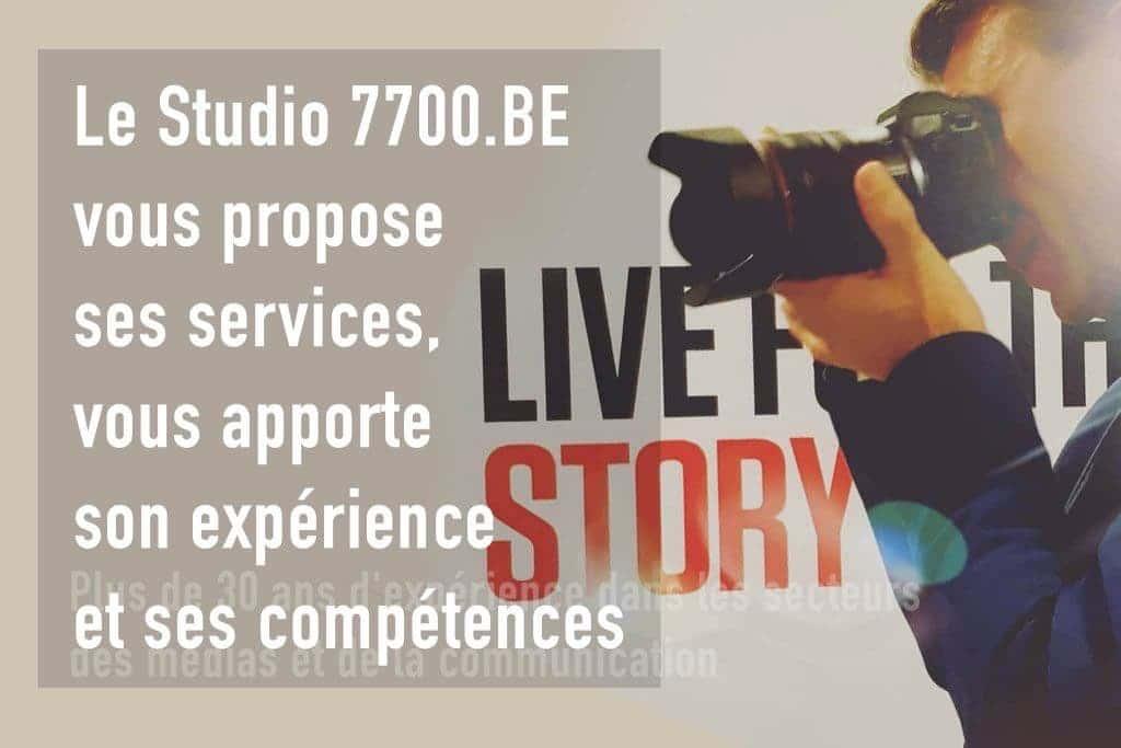 Les services proposées par le Studio 7700.BE