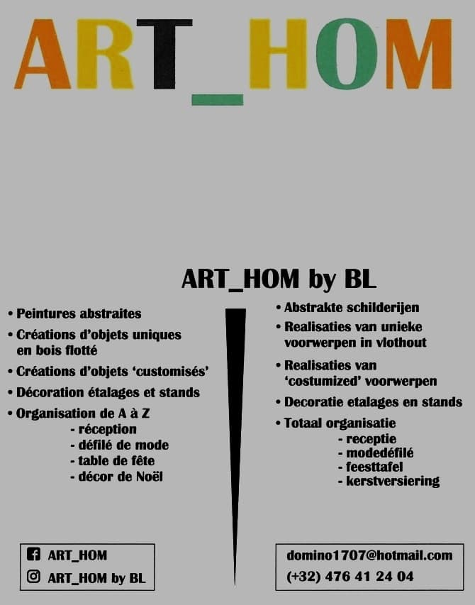 ART_HOM BY BRIGITTE LAFERE ORGANISATIUON DE A A Z.