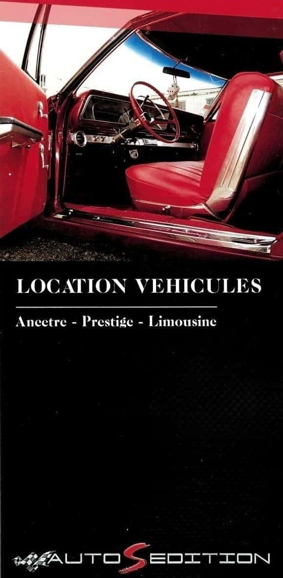 AUTOS EDITION LOCATION DE VEHICULES ANCETRE PRESTIGE LIMOUSINE