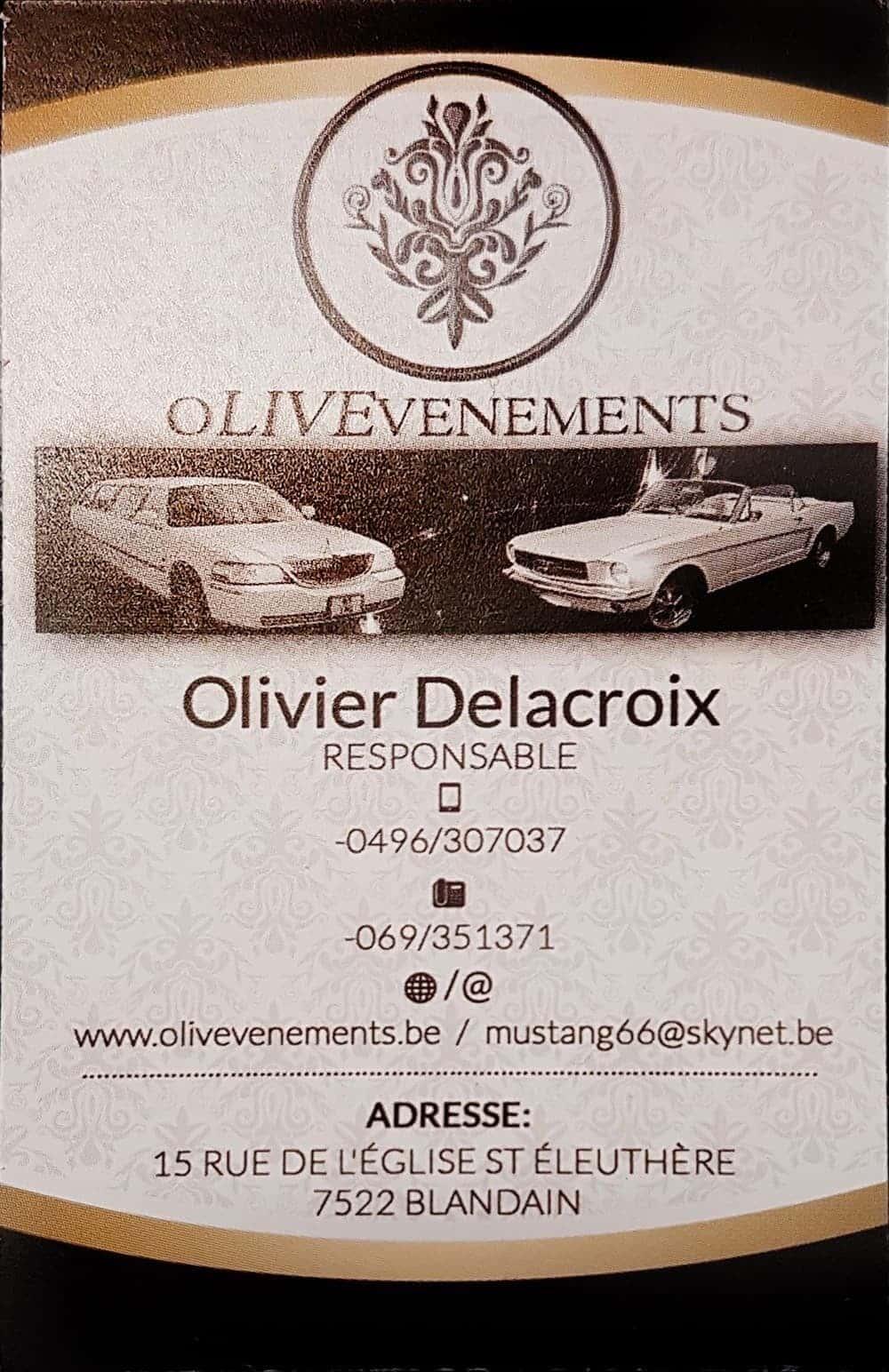 OLIVEVENEMENTS OLIVIER DELACROIX LOCATION DE VOITURES ET DE LIMOUSINE POUR VOTRE EVENEMENT ET VOTRE MARIAGE