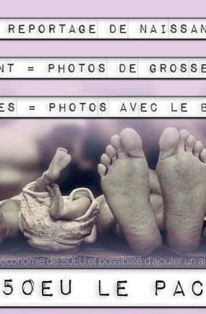 Pack reportage photos de grossesse et du bébé, pack de naissance avec le studio 7700.BE