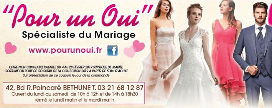 Pour un Oui magasin de Robes de mariées et Costumes à Bethune