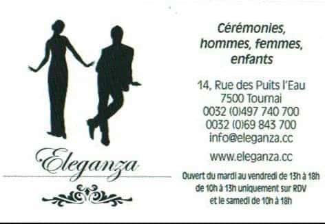 Robes de mariées, costumes et vêtements de cérémonie. Magasin à Tournai Eleganza et le Costume.com