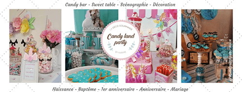 Candy Land Party La déco gourmande by Karine