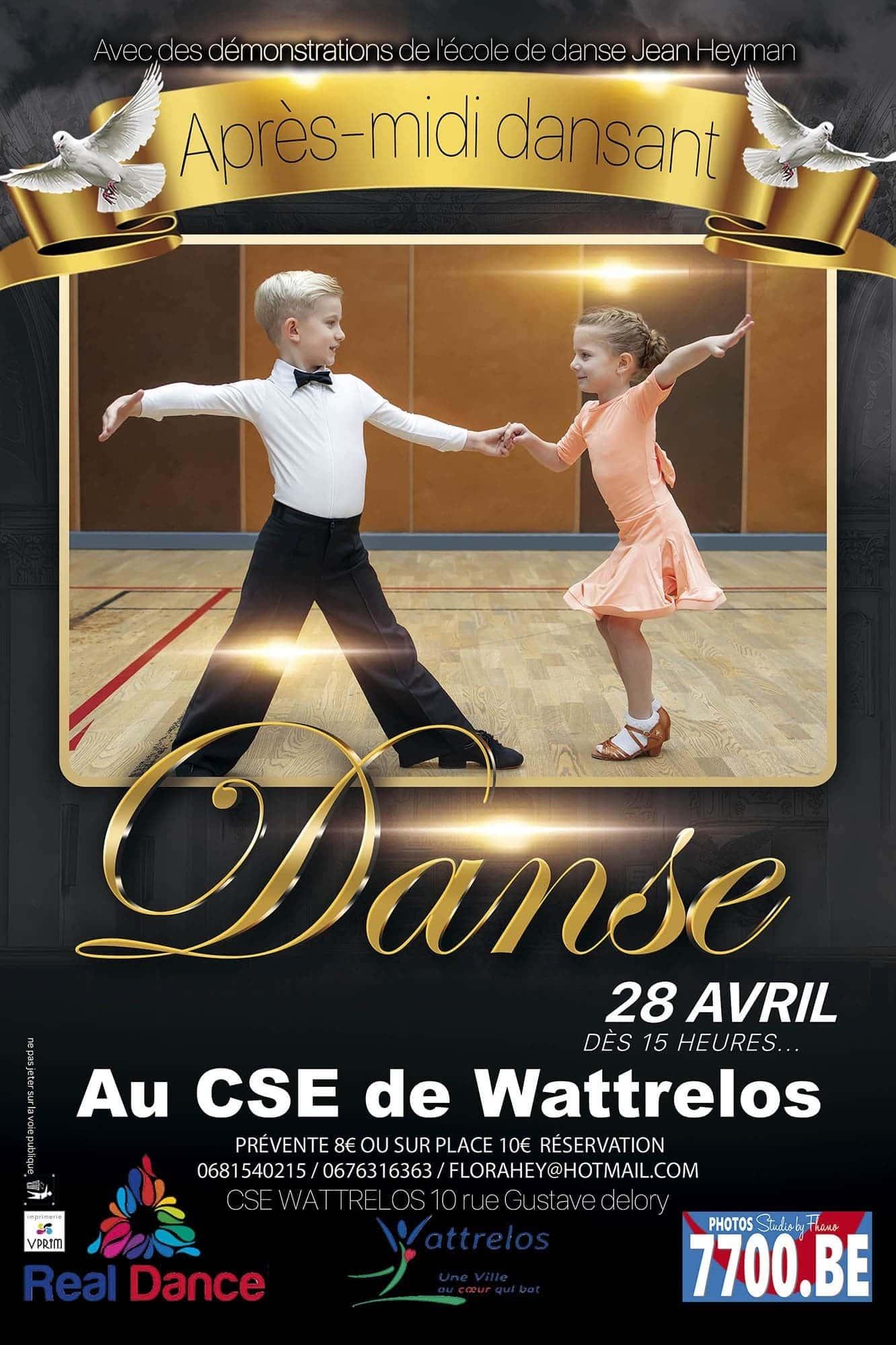 L'évènement de l'après-midi dansant au CSE Wattrelos avec l'école de danse Jean Heyman capturé en images par le Studio 7700.BE