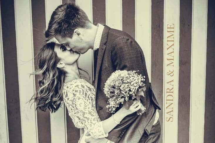 Photo de couple du Studio 7700BE lors du mariage de Sandra et Maxime le 12 juillet 2019