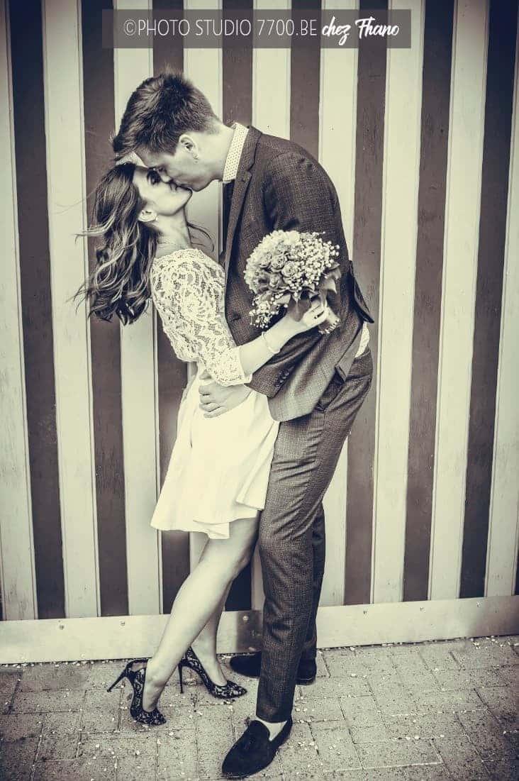 Photo de couple lors du mariage de Sandra et Maxime