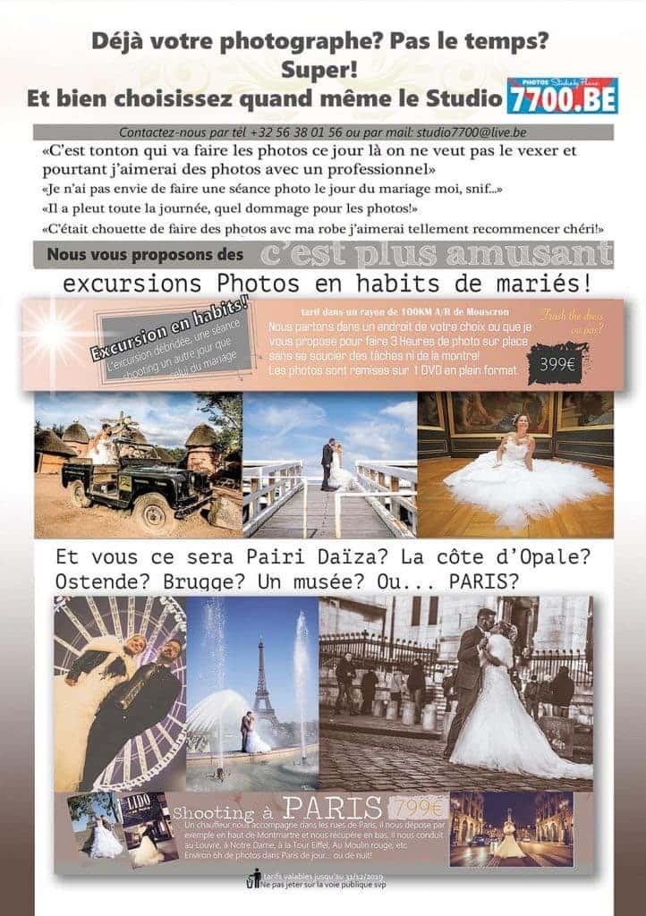 Une excursion photos en habits de mariés avec le Studio 7700.BE