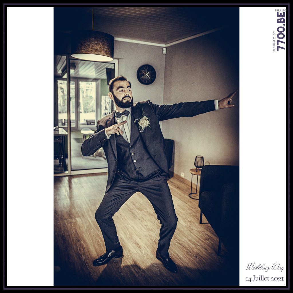 Les préparatifs du marié - Quelques photos © faites par le studio 7700BE et votre photographe Fhano lors du mariage de GERALDINE ET SEBASTIEN