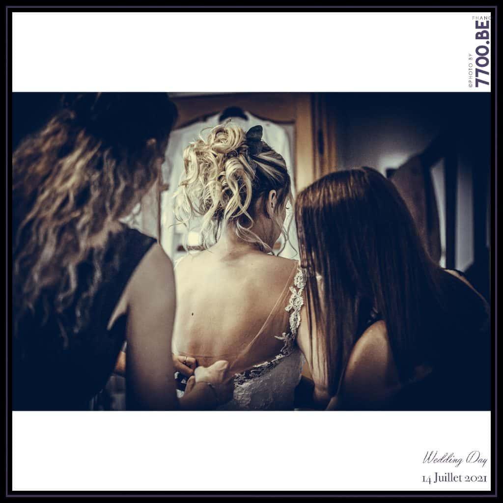 Les préparatifs de la mariée - Quelques photos © faites par le studio 7700BE et votre photographe Fhano lors du mariage de GERALDINE ET SEBASTIEN