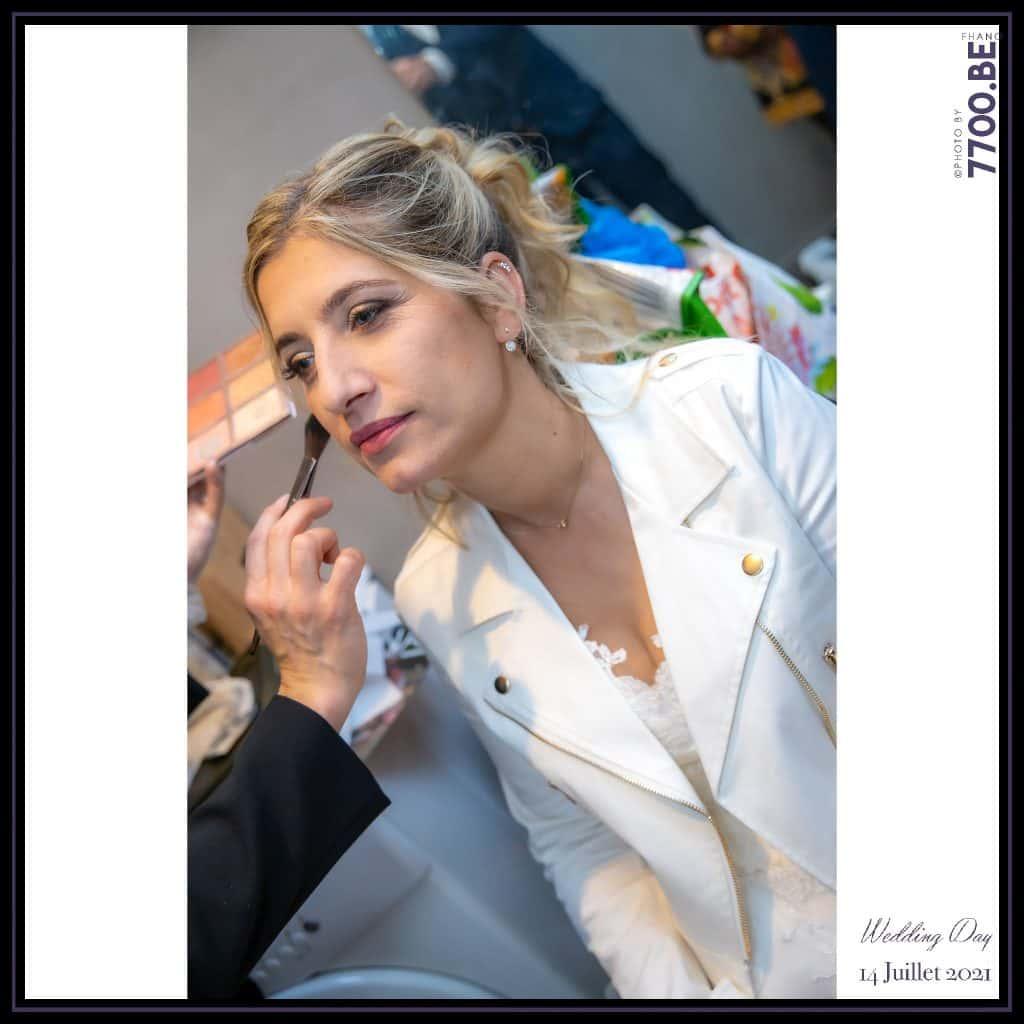 retouches maquillage par Amylie de BBA - Quelques photos © faites par le studio 7700BE et votre photographe Fhano lors du mariage de GERALDINE ET SEBASTIEN