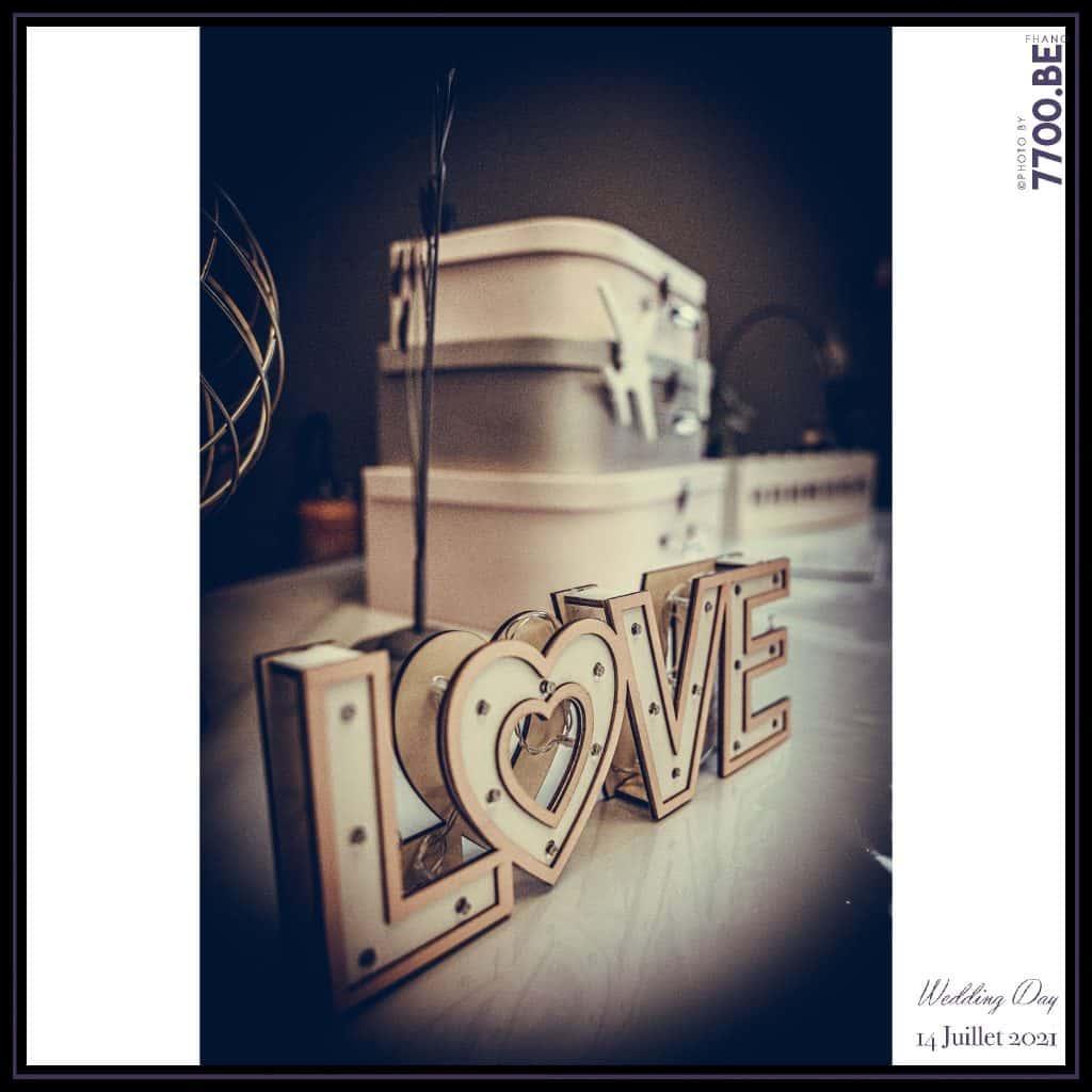 Les décorations de la salle de réception - Quelques photos © faites par le studio 7700BE et votre photographe Fhano lors du mariage de GERALDINE ET SEBASTIEN