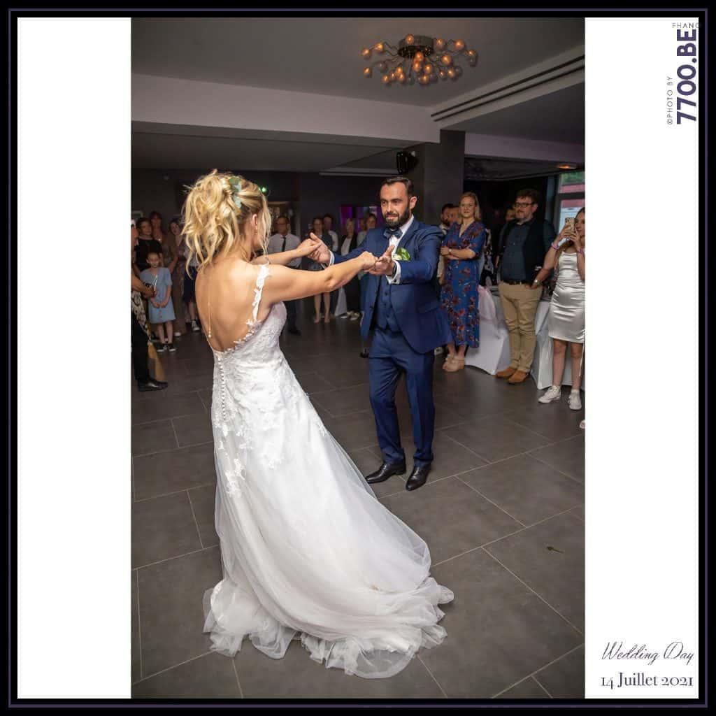 Première danse et ouverture du bal par les mariés - Quelques photos © faites par le studio 7700BE et votre photographe Fhano lors du mariage de GERALDINE ET SEBASTIEN